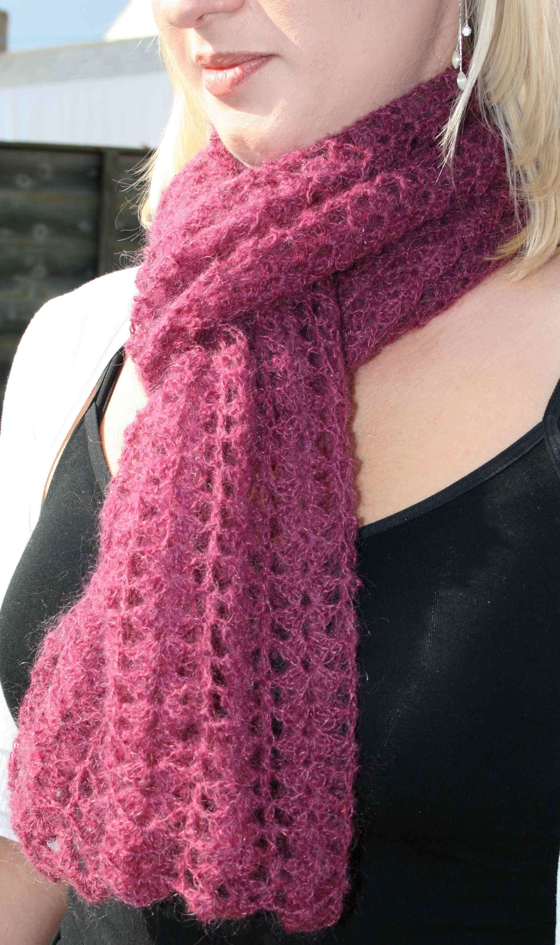 Pattern available on my new blog  Crochet Children's Scarf Patterns Free